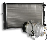 Motorkjøling, termostat, vannpumpe, drivrem, vifterem, radiator, kilerem, flens, klima, kupevifte, kupemotor, radiatorvifte, klimakompressor, kondensator og varmeventil