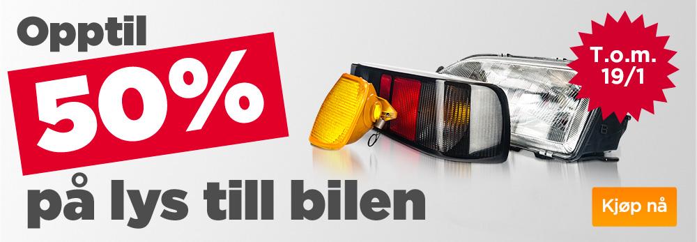 50 procent belysning