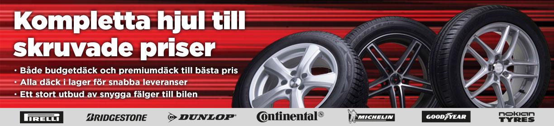 Kompletta hjul däck