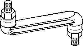 Stång/stag, krängningshämmare, Bak, höger eller vänster
