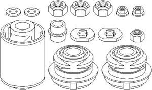 Reparationssæt, led, Foraksel, højre eller venstre, Nede