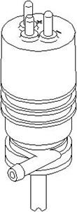 Vandpumpe, rudevisker/vasker, Foran, Foran eller bagved