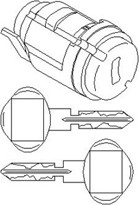 Låsecylinder, tændingslås