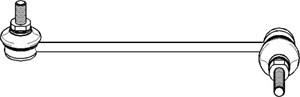 Stång/stag, krängningshämmare, Höger fram