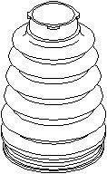 Drivaksel Manchet, Gearkasseside, Foraksel, højre eller venstre