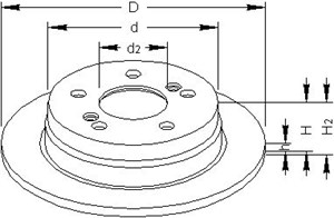 Brake Disc, Front axle, Rear, Rear axle