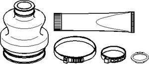 Belgsett, drivaksel, Girkassesiden, Framaksel høyre, Framaksel venstre