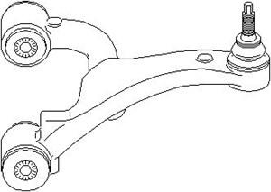 Tukivarsi, pyöräntuenta, Taka-akseli, oikea, Yläpuolella