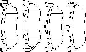 Reservdel:Mercedes Ml 270 Bromsbeläggsats, Bak