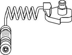 Varningssensor, bromsbeläggslitage, Fram, höger eller vänster