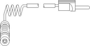 Varningssensor, bromsbeläggslitage, Bak, höger eller vänster