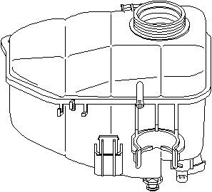 Reservdel:Mercedes C 180 Expansionskärl, kylvätska