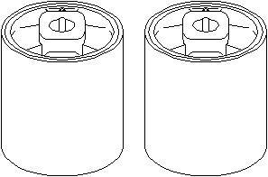 Bussning, länkarm, Fram, höger eller vänster, Höger, Upptill, Vänster