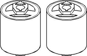 Korjaussarja, ohjausvipu, Eteen, oikea tai vasen puoli