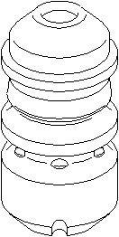 Genomslagsgummi, stötdämpare, Bak, höger eller vänster