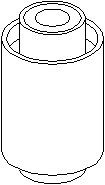 Bussning, länkarm, Inre, Bak, höger eller vänster, Bakaxel nedtill, Höger eller vänster, Nedre