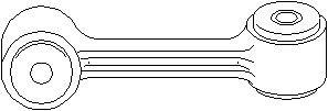 Tanko, kallistuksenvaimennin, Taka-akseli, Oikea tai vasen puoli, Taakse, oikea tai vasen puoli, Oikea, Vasen