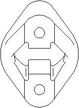 Reservdel:Bmw 318 Hållare, ljuddämpare, Slutljuddämpare