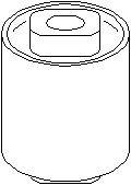 Bussning, axelhållare, Bak, Bak, höger eller vänster