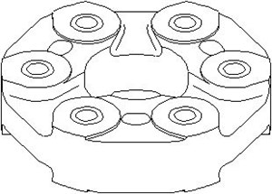 Reservdel:Bmw 525 Led, kardanaxel, Bak, Fram, Bakre drivaxel till kraftuttag, Främre drivaxel till kraftuttag