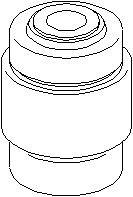 Lagring, styrestang, Ytre, Bak, høyre eller venstre, Nedre bakaksel, Øvre bakaksel