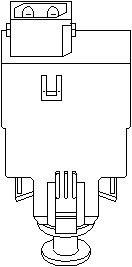 bryter, koblingsbetjening (hastighetsreg)