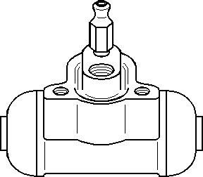 Jarrusylinteri, Taka-akseli, Taakse, oikea tai vasen puoli, Oikea, Vasen