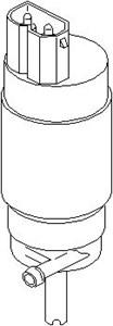 lasinpesurin pumppu, lasinpesu, Edessä, Takana, Edessä tai takana