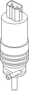 Vandpumpe, rudevisker/vasker, Foran