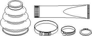 Boot Kit, drive shaft, Rear, Wheel side