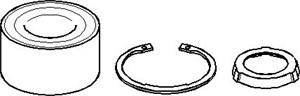 Reservdel:Bmw 520 Hjullagersats, Bakaxel, Bak, höger eller vänster
