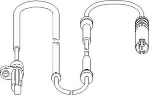 ABS Sensor, Bag, Bagaksel, højre eller venstre