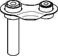 Bærearm, hjulophæng, Bagaksel, højre eller venstre, Nede