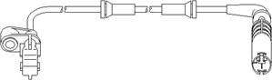 ABS-givare, Sensor, hjulvarvtal, Fram, Framaxel, Vänster fram, Vänster