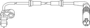 ABS-givare, Sensor, hjulvarvtal, Fram, Framaxel, Höger fram, Höger