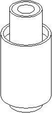 Bussning, länkarm, Bak, Bakaxel, Inre, Bak, höger eller vänster, Bakaxel nedtill, Bakaxel upptill, Höger eller vänster, Höger, Upptill, Vänster