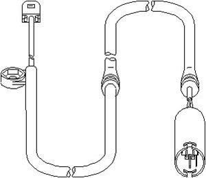 sensor, slitasje bremsebelegg, Foran