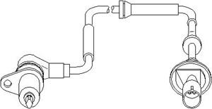 ABS-givare, Sensor, hjulvarvtal, Fram, Framaxel, Fram, höger eller vänster