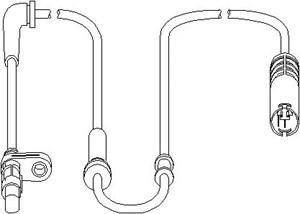 Sensor, hjulturtall, Foran, Foran, høyre eller venstre