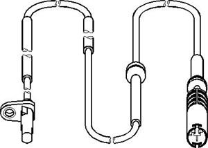 ABS Sensor, Bagaksel, højre eller venstre