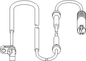 Reservdel:Bmw 135 ABS-givare, Sensor, hjulvarvtal, Fram, Framaxel, Fram, höger eller vänster, Höger fram, Vänster fram, Höger, Vänster