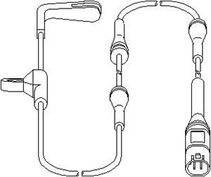 sensor, slitasje bremsebelegg, Foran, Framaksel venstre