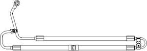Reservdel:Bmw 520 Hydraulikslang, styrsystem, Från hydraulpump till styrväxel