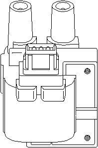Tändspole, Cyl. 1, Cyl. 4