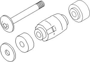 Reparasjonssett, stabilisator koplingsstang, Foran, høyre eller venstre