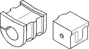 Ophæng, stabilisator, På indersiden, Foraksel, højre eller venstre