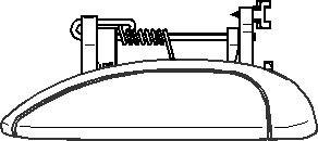 Dørgreb, Bagved til venstre, Foran til venstre
