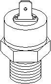 Reservdel:Citroen Ax 11 Varningsswitch, oljetryck