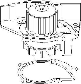 Reservdel:Citroen Xm Vattenpump