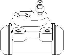 Hjulbremsecylinder, Bag, Bagaksel højre, Højre